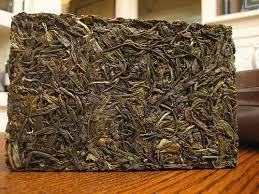 brick of pu-erh tea
